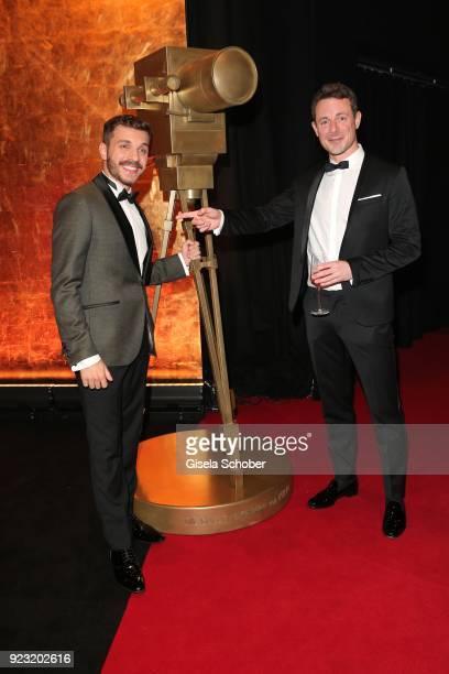 Edin Hasanovic and Alexander Bommes during the Goldene Kamera reception on February 22 2018 at the Messe Hamburg in Hamburg Germany