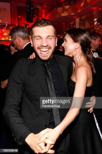 Edin Hasanovic and Aylin Tezel during the 46th German Film Ball at Hotel Bayerischer Hof on January 26 2019 in Munich Germany