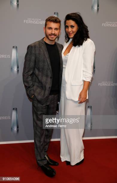 Edin Hasanovic and guest attend the German Television Award at Palladium on January 26 2018 in Cologne Germany