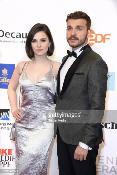Edin Hasanovic and his girlfriend Natalia Rudziewicz attend the Goldene Kamera on February 22 2018 in Hamburg Germany