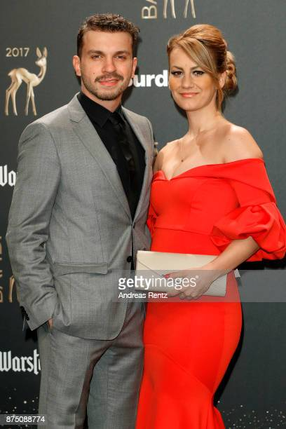 Edin Hasanovic and Izeta Avdic arrive at the Bambi Awards 2017 at Stage Theater on November 16 2017 in Berlin Germany