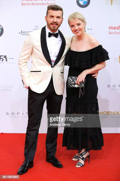 Edin Hasanovic and Jella Haase attend the Lola German Film Award red carpet at Messe Berlin on April 27 2018 in Berlin Germany