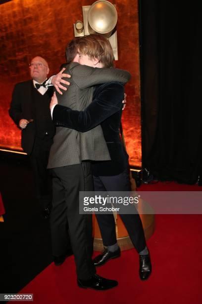 Edin Hasanovic and Louis Hofmann during the Goldene Kamera reception on February 22 2018 at the Messe Hamburg in Hamburg Germany