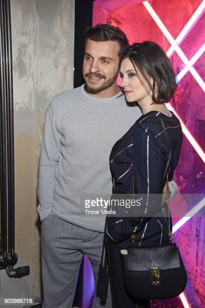 Edin Hasanovic and Natalia Rudziewicz during the Pantaflix Panta Party on February 19 2018 in Berlin Germany
