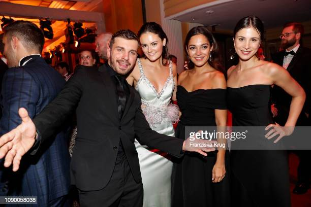 Edin Hasanovic, Lea van Acken, Nilam Farooq and Aylin Tezel during the 46th German Film Ball at Hotel Bayerischer Hof on January 26, 2019 in Munich,...