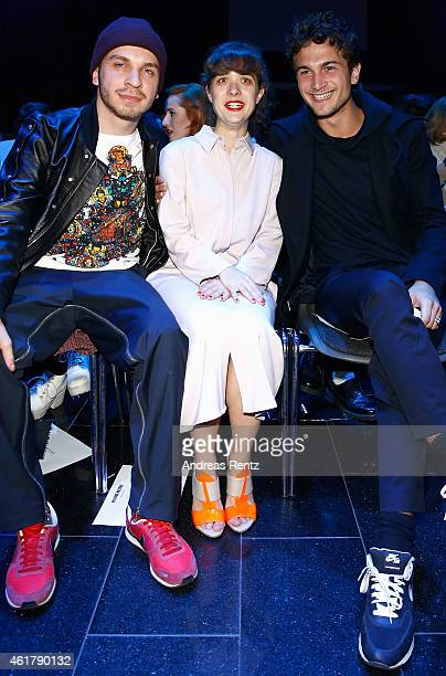 Edin Hasanovic Liv Lisa Fries and Samuel Schneider attend the Kilian Kerner show during the MercedesBenz Fashion Week Berlin Autumn/Winter 2015/16 at...