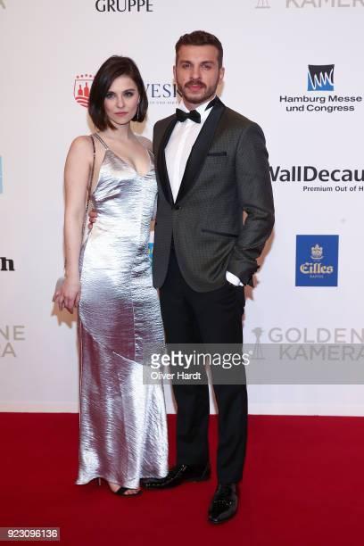 Edin Hasanovic with his girlfriend Jasmin attends for the Goldene Kamera on February 22 2018 in Hamburg Germany