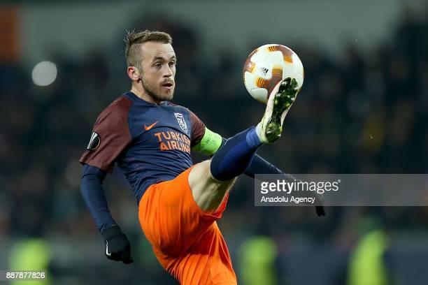 Edin Visca of Medipol Basaksehir in action during UEFA Europa League Group C soccer match between Medipol Basaksehir and Braga at the Fatih Terim...