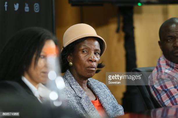 Edina Dube of deceased Phumzile Dube during AfriForums media briefing to announce they will be privately prosecuting Duduzane Zuma on October 17 2017...