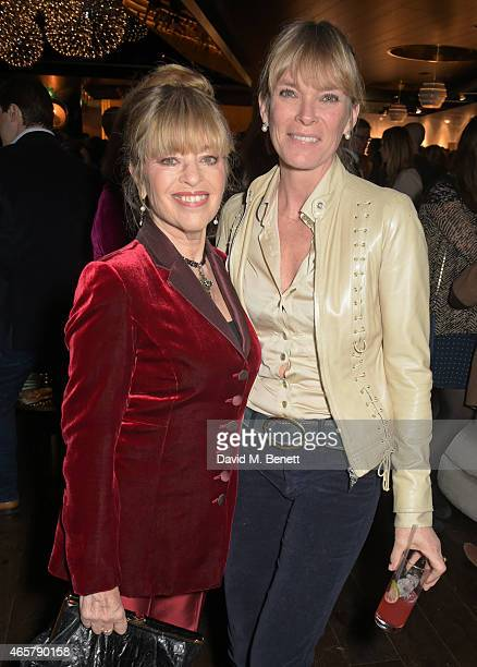 Edina Ronay and Deborah Lang attend the Astley Clarke and Theirworld charitable partnership launch in the Rumpus Room at Mondrian London on March 10...