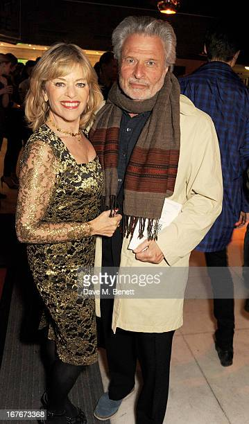 Edina Ronay and Dick Polak attend the opening party for The Vogue Festival 2013 in association with Vertu at Southbank Centre on April 27 2013 in...