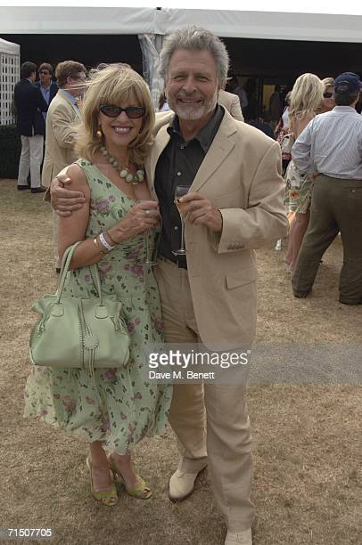 Edina Ronay and guest attend the final of the 2006 Veuve Clicquot Gold Cup for the British Open Polo Championship on July 23 2006 in Cirencester...