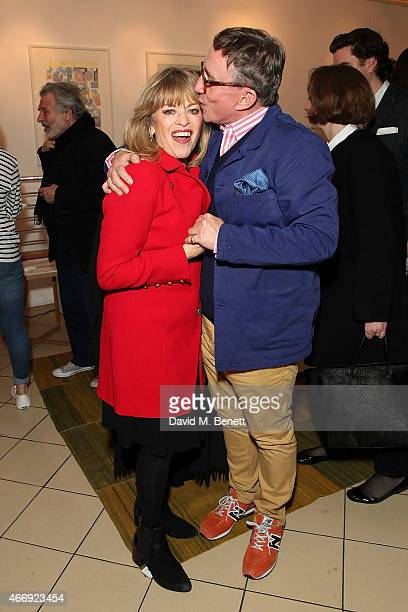 Edina Ronay and Jasper Conran attend the launch of Conran Italia at The Conran Shop on March 19 2015 in London England