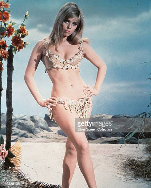 Edina Ronay Hungarian actress wearing a bikini in a publicity portrait issued for the film 'Prehistoric Women' United Kingdom 1967 Also released as...