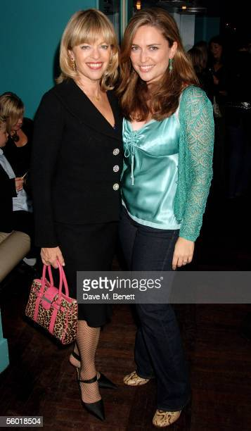 Edina Ronay with her daughter Shebah Ronay attend party thrown by Jo Wood to celebrate the launch of the Jo Wood bath bodycare range at Harvey...