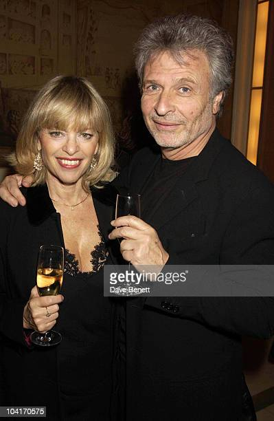 Edina Ronay With Her Husband Harpers Moet Restaurant Awards Held In The Ballroom At Claridges Hotel In London