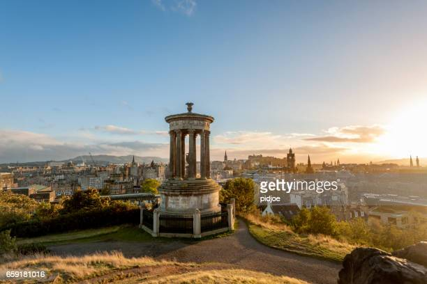 Edinburgh, Calton hill at sunset, Scotland.