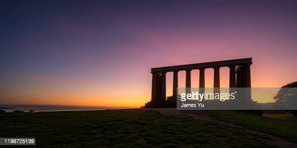 edinburgh calton hill - antiquities stock pictures, royalty-free photos & images