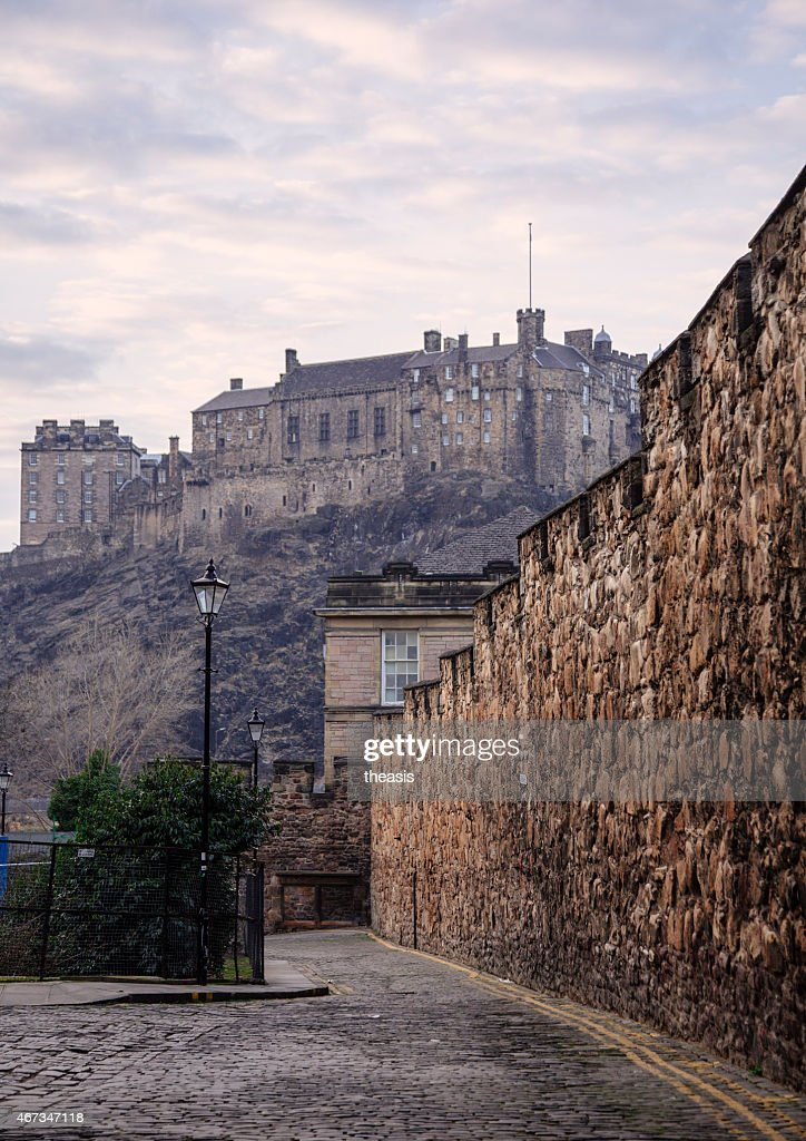 Edinburgh Castle and City Wall from the South : Stock Photo