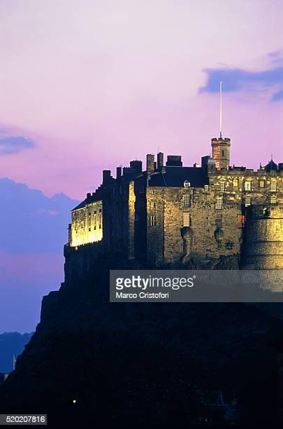 Edinburgh Castle at dusk, Edinburgh, Scotland