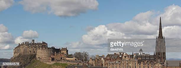 Edinburgh castle at the top of the Royal Mile