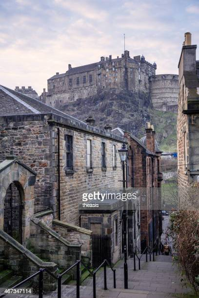edinburgh castle from the south - theasis stockfoto's en -beelden