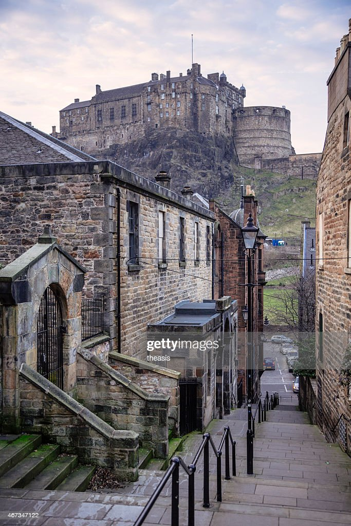 Edinburgh Castle from the South : Stock Photo