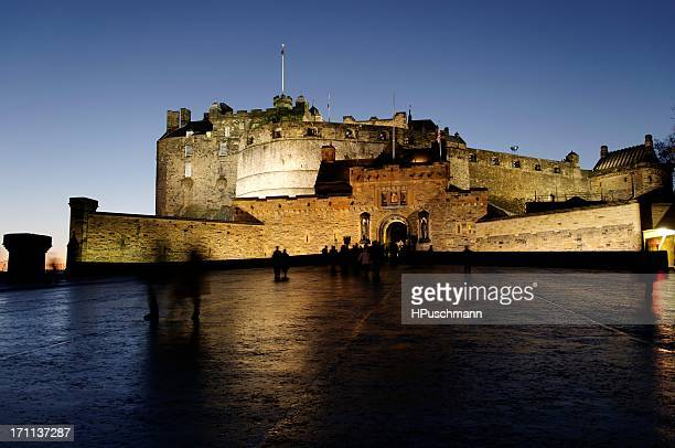 Edinburgh castle in the evening