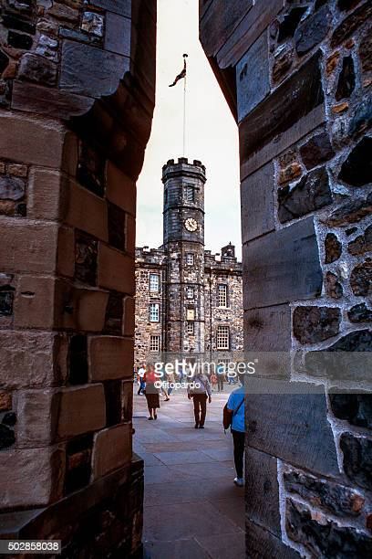 edinburgh castle - clock tower stock pictures, royalty-free photos & images