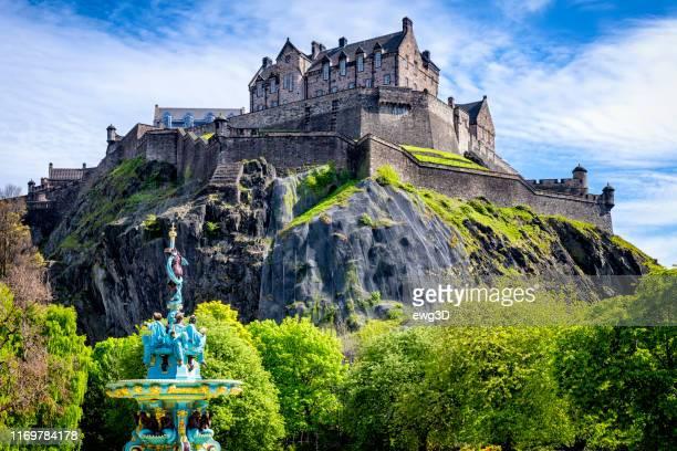 エディンバラ城、スコットランド、イギリス - 世界遺産 ストックフォトと画像