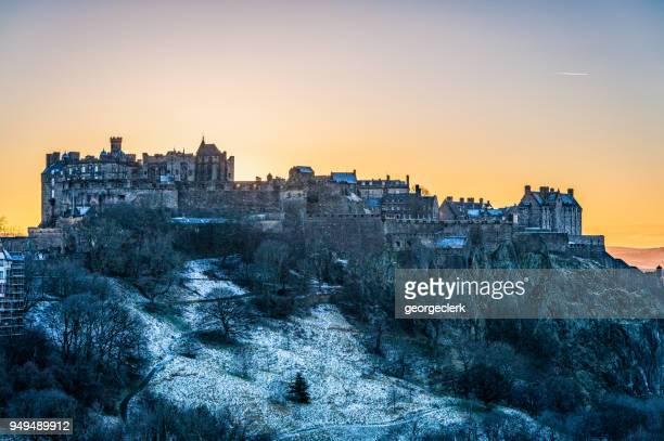 Edinburgh Castle - Winter sunset