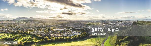 edinburgh city - panoramic stock pictures, royalty-free photos & images