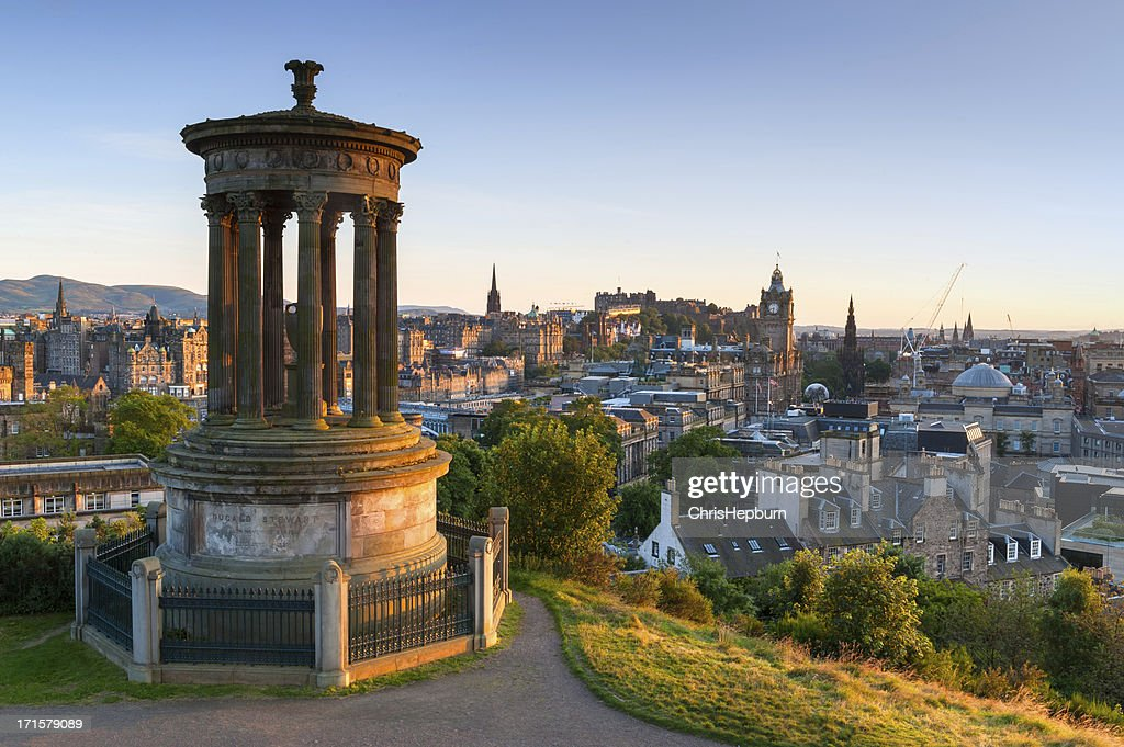Edinburgh Cityscape from Calton Hill, Scotland : Stock Photo