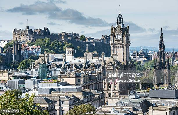 edinburgh cityscape - new town edinburgh stock photos and pictures