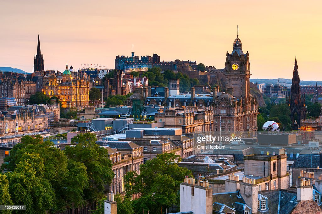Edinburgh Cityscape, Scotland : Stock Photo