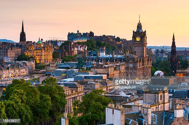 edinburgh cityscape, scotland - new town edinburgh stock photos and pictures