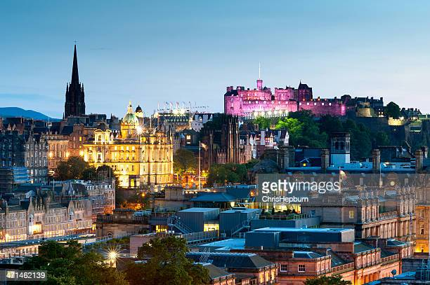 edinburgh cityscape, scotland - edinburgh castle stock pictures, royalty-free photos & images