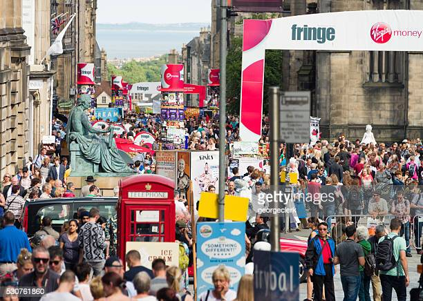 Edinburgh crowds during the Festival