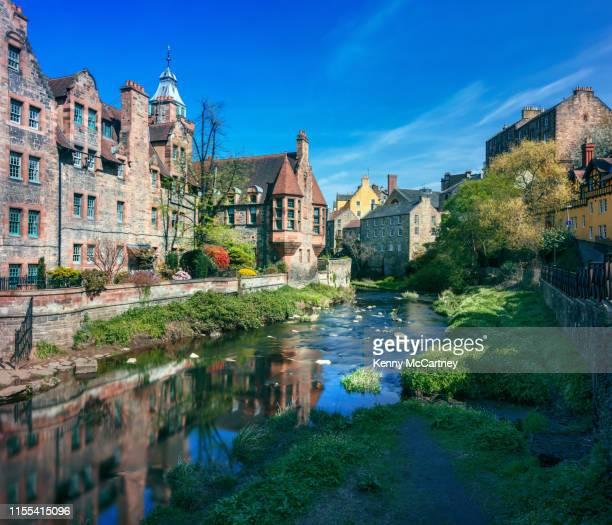 edinburgh - dean village - unesco stock-fotos und bilder