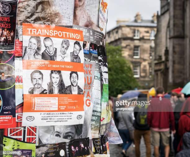 Edinburgh Festival Fringe - publicité des spectacles