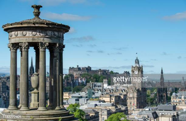 edinburgh from calton hill - balmoral hotel stock pictures, royalty-free photos & images