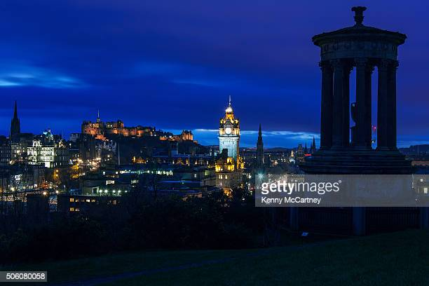 edinburgh - from calton hill - balmoral hotel stock pictures, royalty-free photos & images
