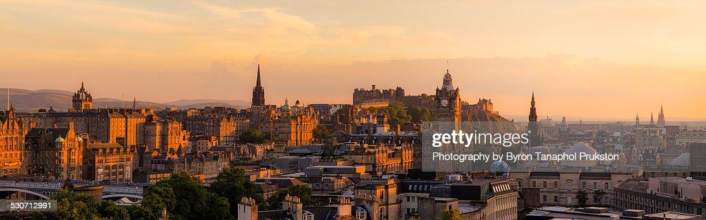 Edinburgh from Calton Hill : Foto de stock