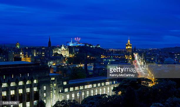 edinburgh - from calton hill - st. giles cathedral stock pictures, royalty-free photos & images