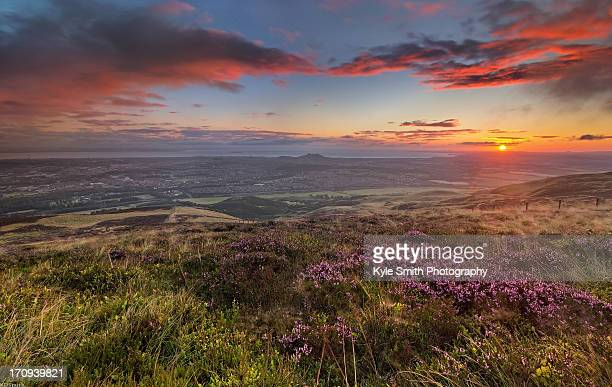 edinburgh from the pentland hills - edinburgh stock pictures, royalty-free photos & images