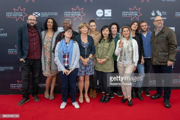 Edinburgh International Film Festival Jurors attend a photocall during the 72nd Edinburgh International Film Festival at Cineworld on June 21 2018 in...