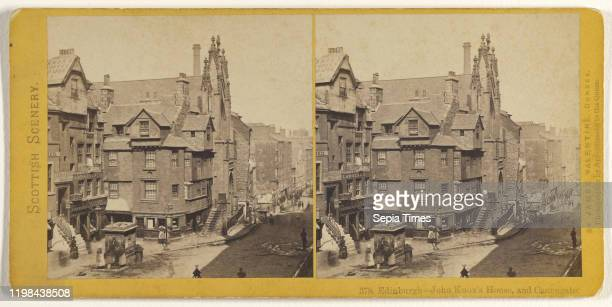 Edinburgh John Knox's House and Canongate James Valentine 1870s Albumen silver print