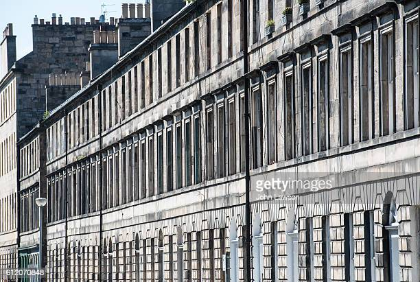 edinburgh new town - cumberland street - new town edinburgh stock photos and pictures
