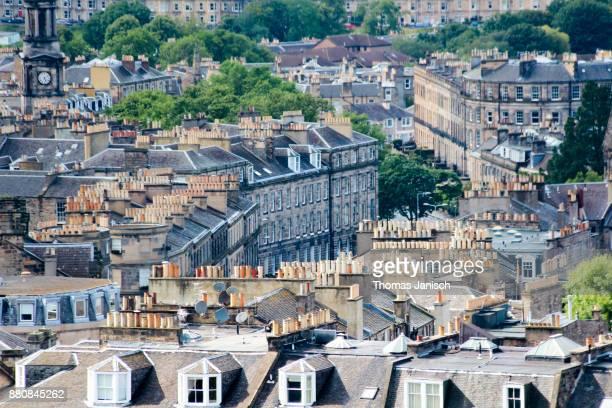 edinburgh roofscape, scotland - カールトンヒル ストックフォトと画像