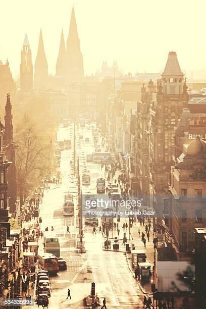 edinburgh, scotland - プリンシズ通り ストックフォトと画像